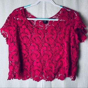 Torrid pink floral embroidered top~0